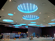 Pictures showing dramatic ceiling from Boulevard Casino renovation